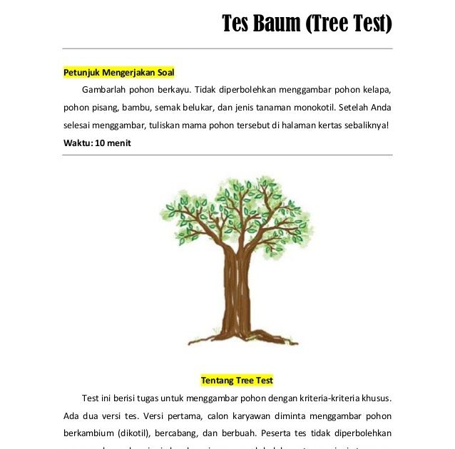 3 Soal Psikotest 2 6 Tes Psikologi Populer Di Seleksi Penerimaan Karyawan Dan Inilah Arti Gambar Pohon Dalam Psikotes Ari Isw Menggambar Pohon Gambar Pohon