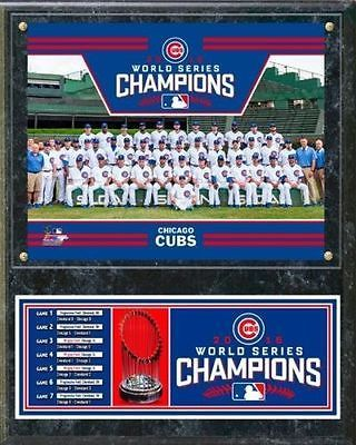 be6043a4f Chicago Cubs 2016 World Series Champions 12x15 Team Plaque MLB Hologram
