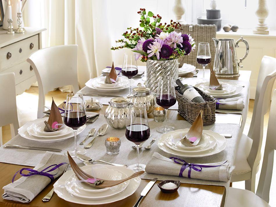11 Tipps zum Eindecken eines Tisches Tischwäsche, Decken und Tisch - Decken Deko Wohnzimmer