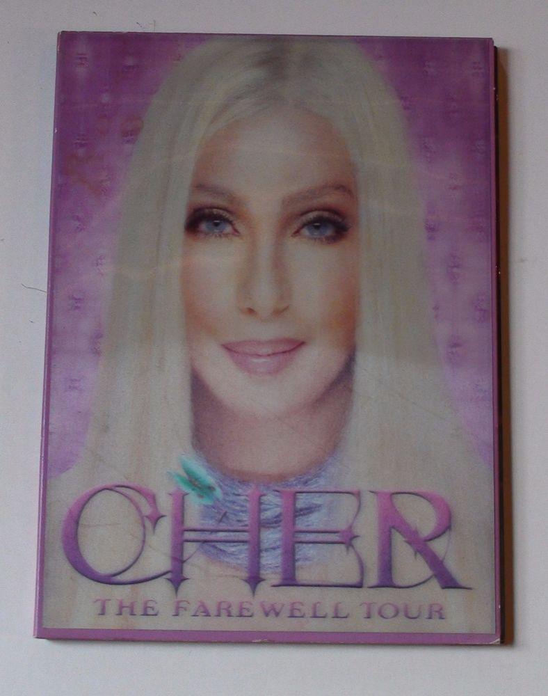"Cher ""The Farewell Tour"" Live Concert w/ 3D Hologram, Lenticular Cover"