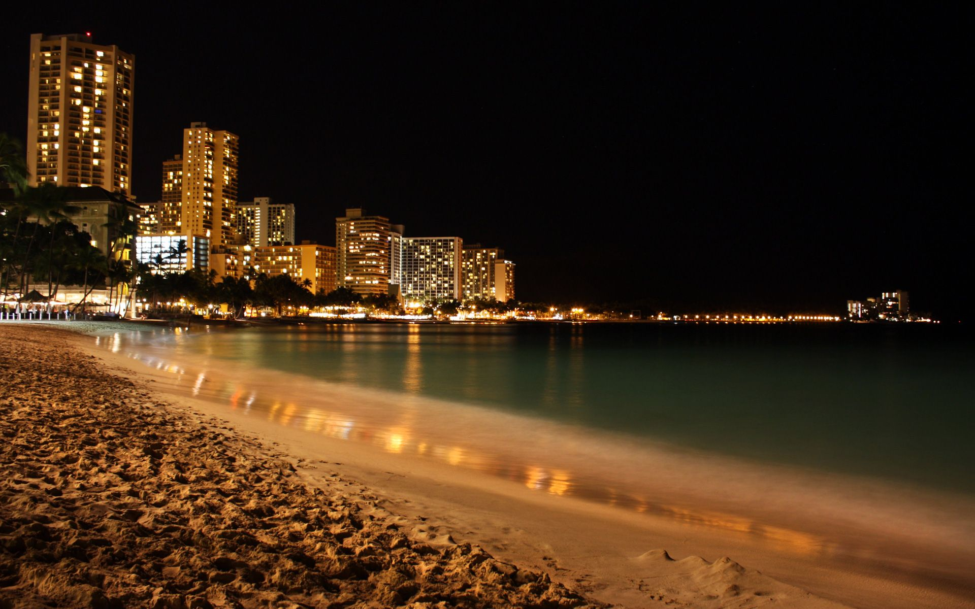 Hd wallpaper night - Night Beach Wallpaper Full Hd With Wallpapers Wide Resolution 1920x1200 Px 672 12 Kb