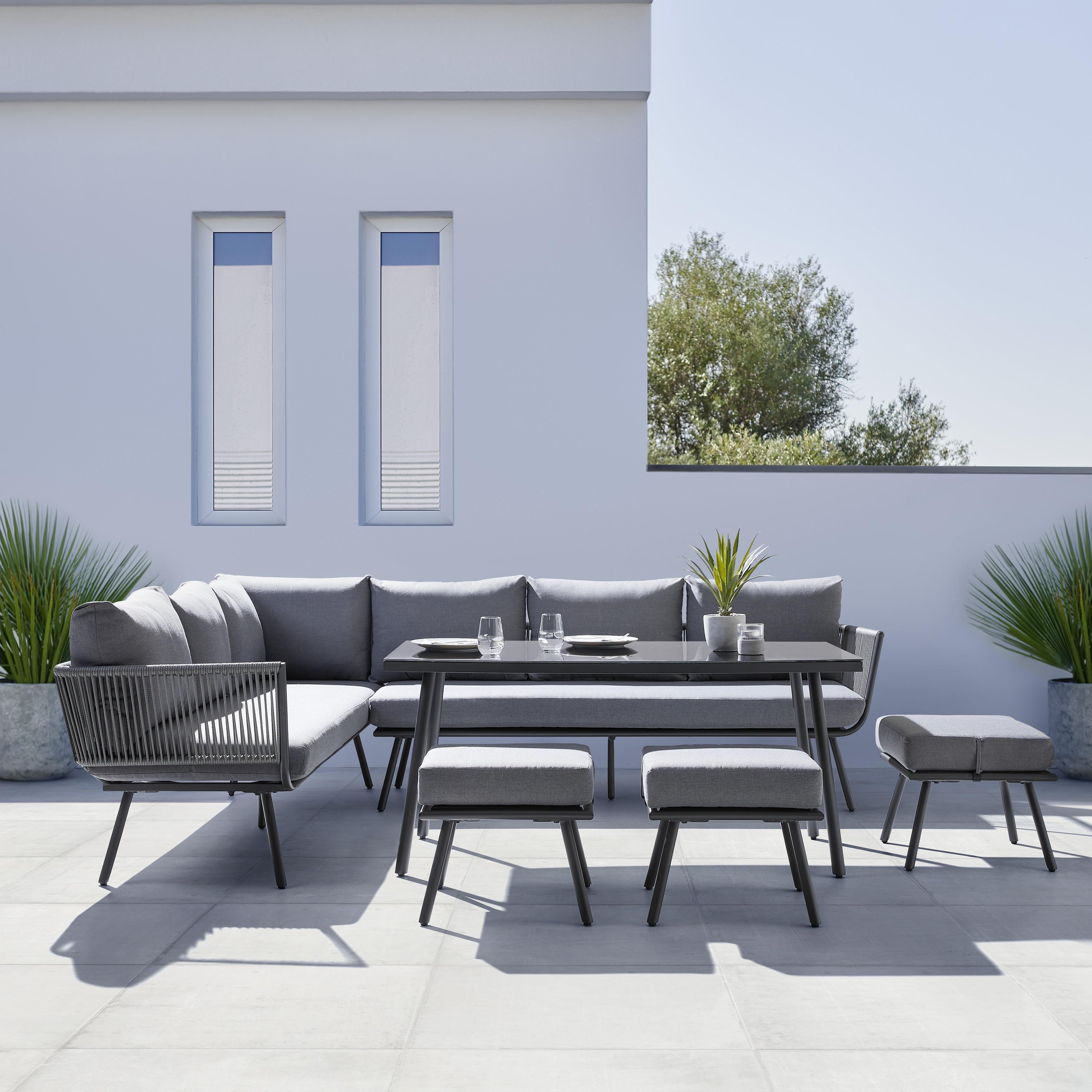 Loungegarnitur In Grau Dunkelgrau Online Bestellen Lounge Garnitur Lounge Aussenmobel