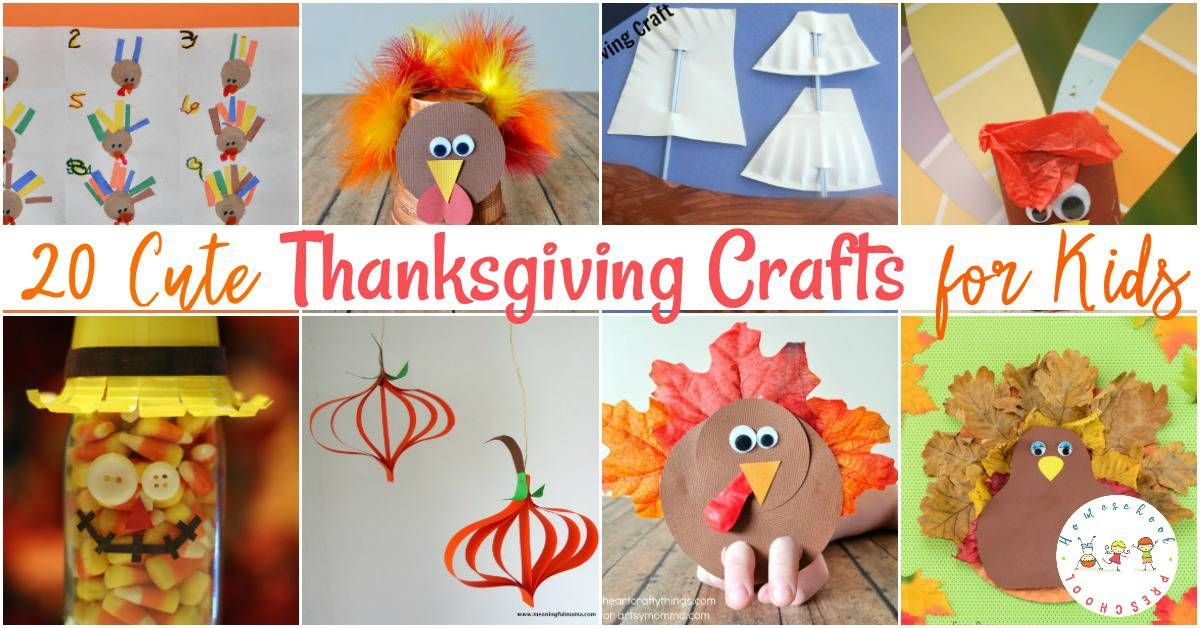 20 Of The Best Thanksgiving Crafts For Kids Thanksgiving Crafts
