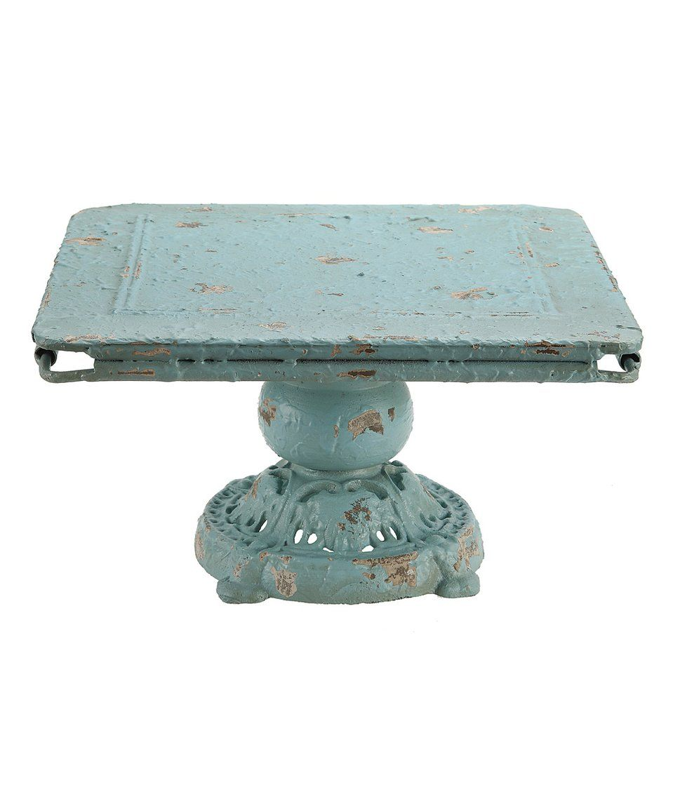 Take a look at this distressed blue metal tray today zulilly