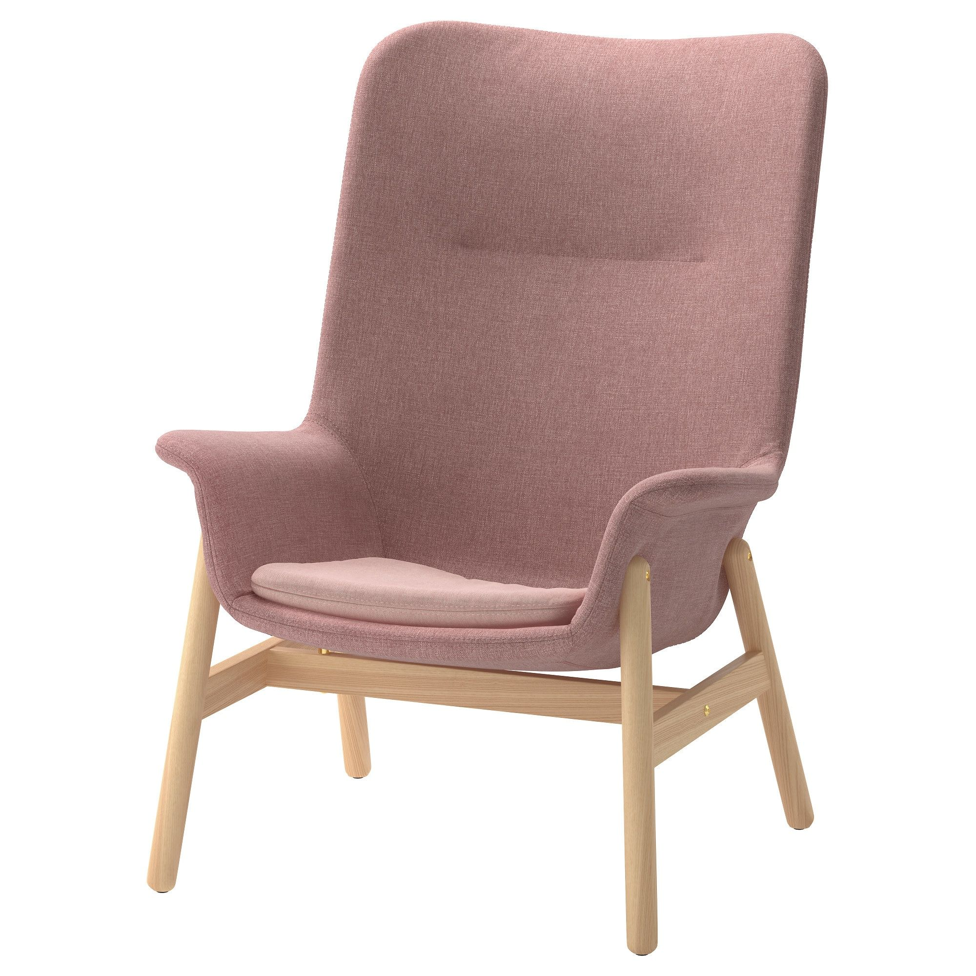 Relaxsessel Mit Hocker Ikea Ikea Vedbo Armchair Gunnared Light Brown Pink In 2019 Products