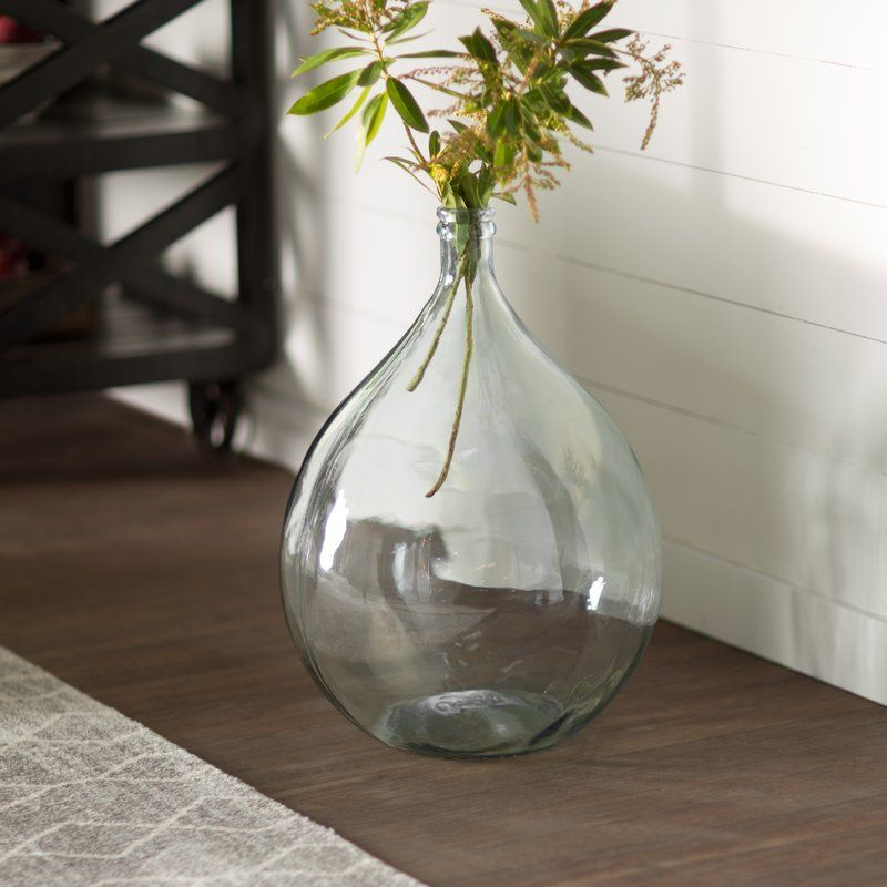 European Recycled Glass Bistro Glass Vase Glass Vase Decor