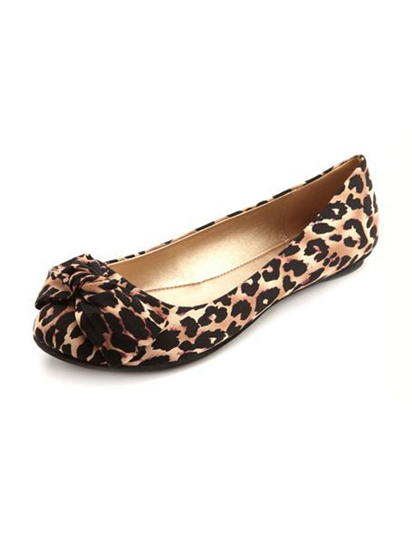 3a34a4d91823 Canvas Twisted Bow Flat: Charlotte Russe. Every girl needs a pair of leopard  print flats! $22.50