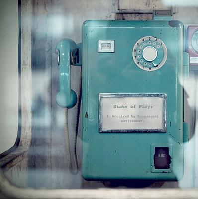 Vintage phone in Tiffany Blue