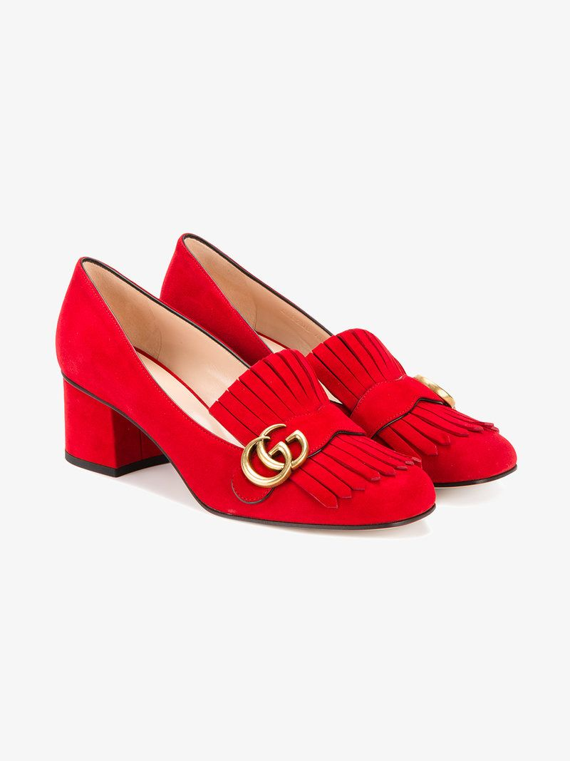 7f7a9fddc42 GUCCI MARMONT FRINGED LOAFERS.  gucci  shoes  flats