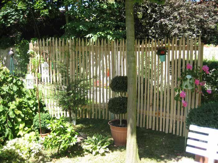 sichtschutz kastanie   garten   pinterest, Garten Ideen