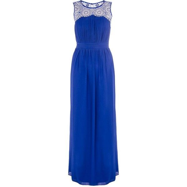 Royal blue maxi dress polyvore