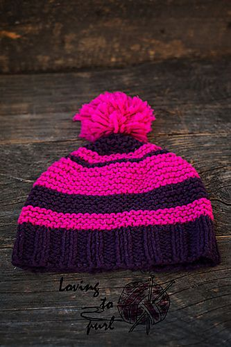 Ravelry: Classic hat in two colors pattern by Loving to purl