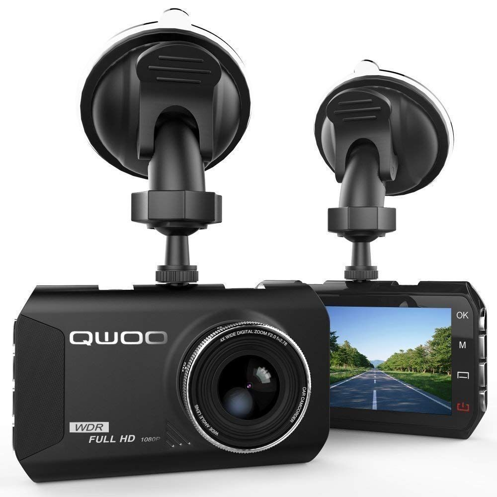 Dash Cam, QWOO Dash Camera 3 LCD Car Dashboard Camera