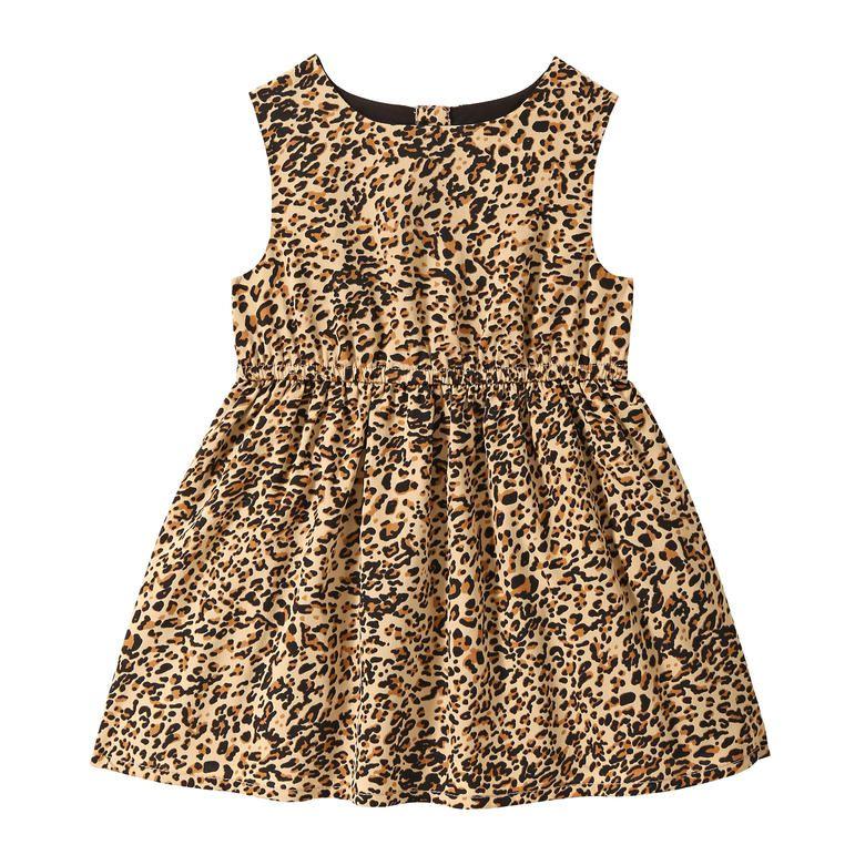 07663cc25 Baby Girls' Leopard Print Dress in Black from Joe Fresh | Mila ...