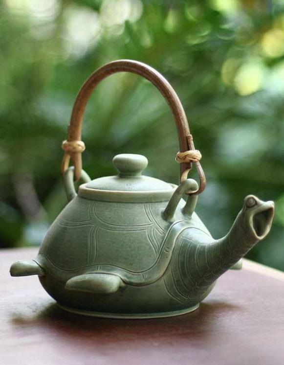 Tortuga!! Turtle Tea Pot #teapot