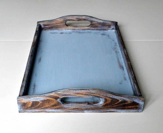 Large Decorative Serving Trays Pleasing Large Serving Traylarge Wooden Traybreakfast Trayshabby Chic Inspiration Design