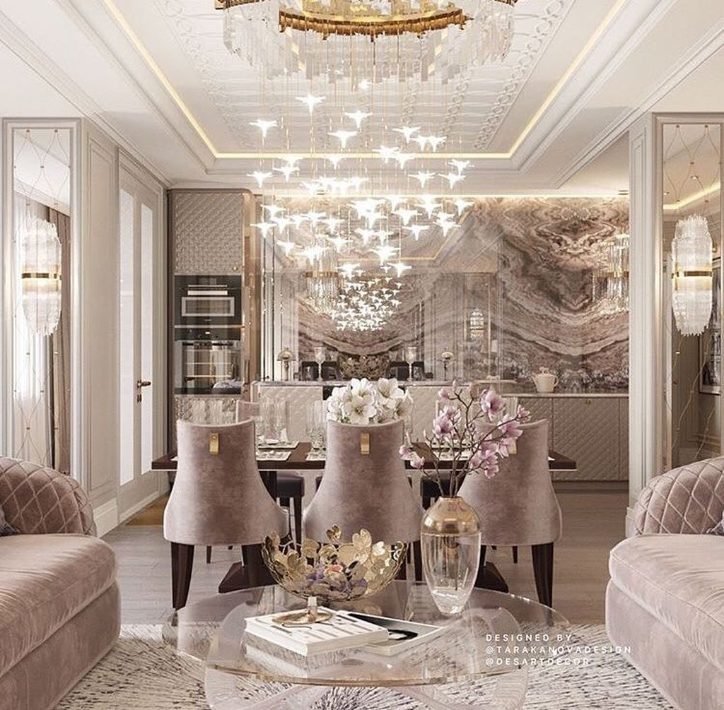 Cool 99 Beautiful Living Room Design Ideas For Luxurious Home Interior Design Dining Room Luxury Dining Room Home Decor Inspiration