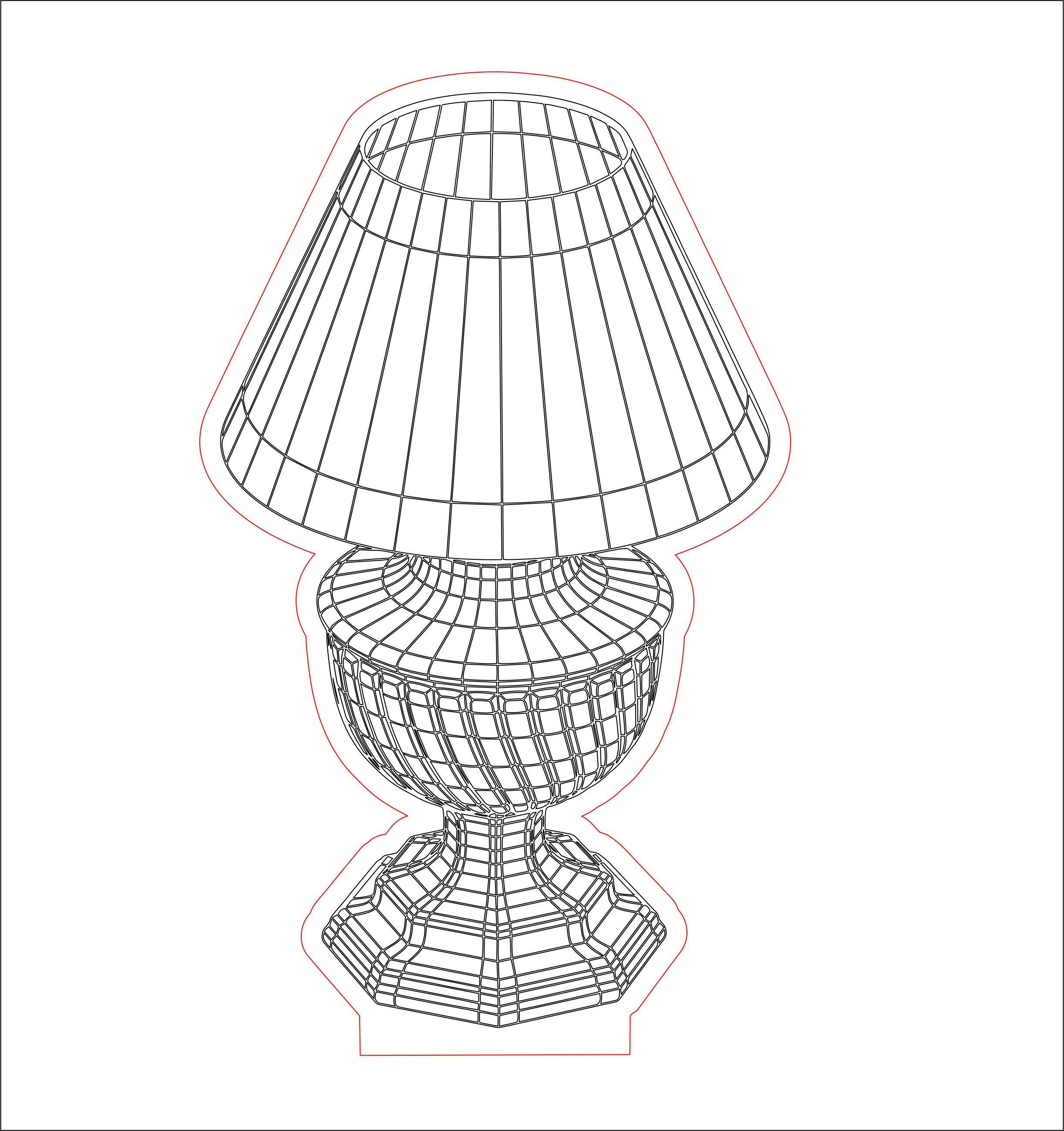 Lamp Shade3 3d Illusion Acrylic Led Lamp Vector Dxf Cdr Etsy In 2020 3d Illusions Lamp Illusions