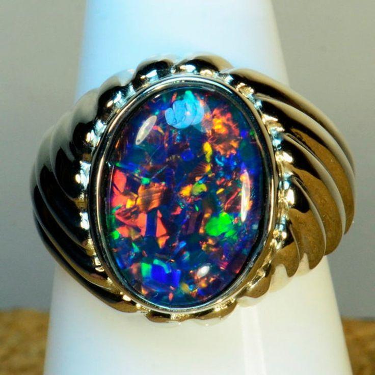 Opal ring men in 2020 australian opal ring opal ring