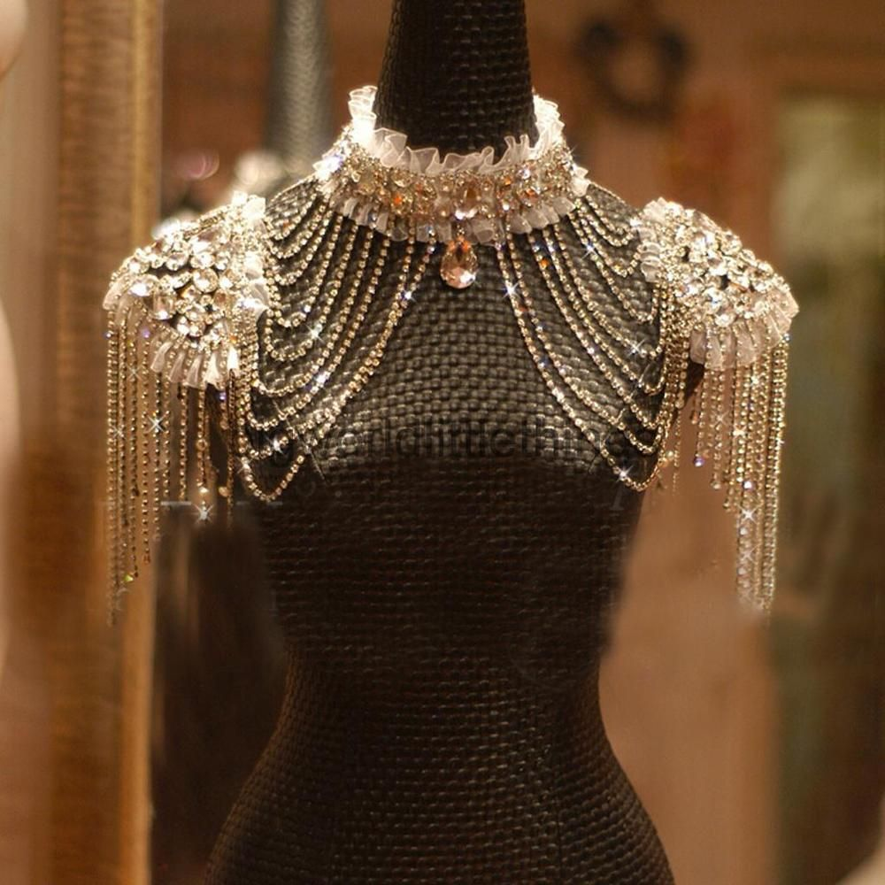 Womens Ladies Rhinestone Wedding Parom Jewelry Collar