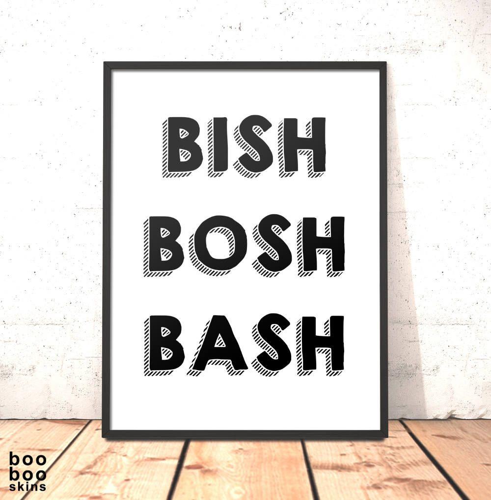 Bish Bash Bosh Cookery Print | Gift for Friend Girlfriend Chef Dad ...