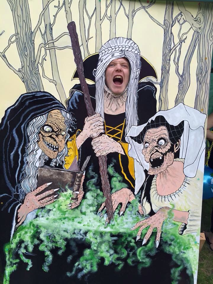 by adrian whyte macbeth board made for the core producers event much ado about corby face hole to be cut out