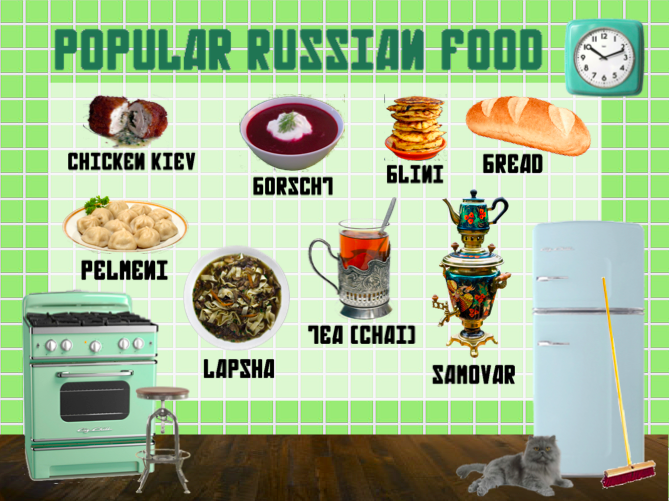 Pinner Said Popular Russian Food From My Presentation On Russia