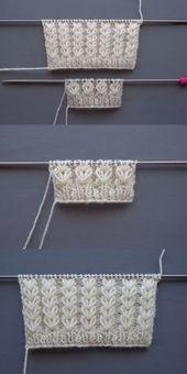Photo of Weizenohren stricken Muster Frauen und Baby webt