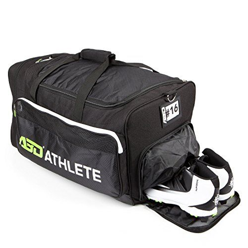 65f0f0666d59 Team Sports Bag Gym Travel Overnight MultiCompartment duffel On Sale ABD Athletes  Space Saver w Shoe Compartment Built in Insulated Cooler Compartment is ...