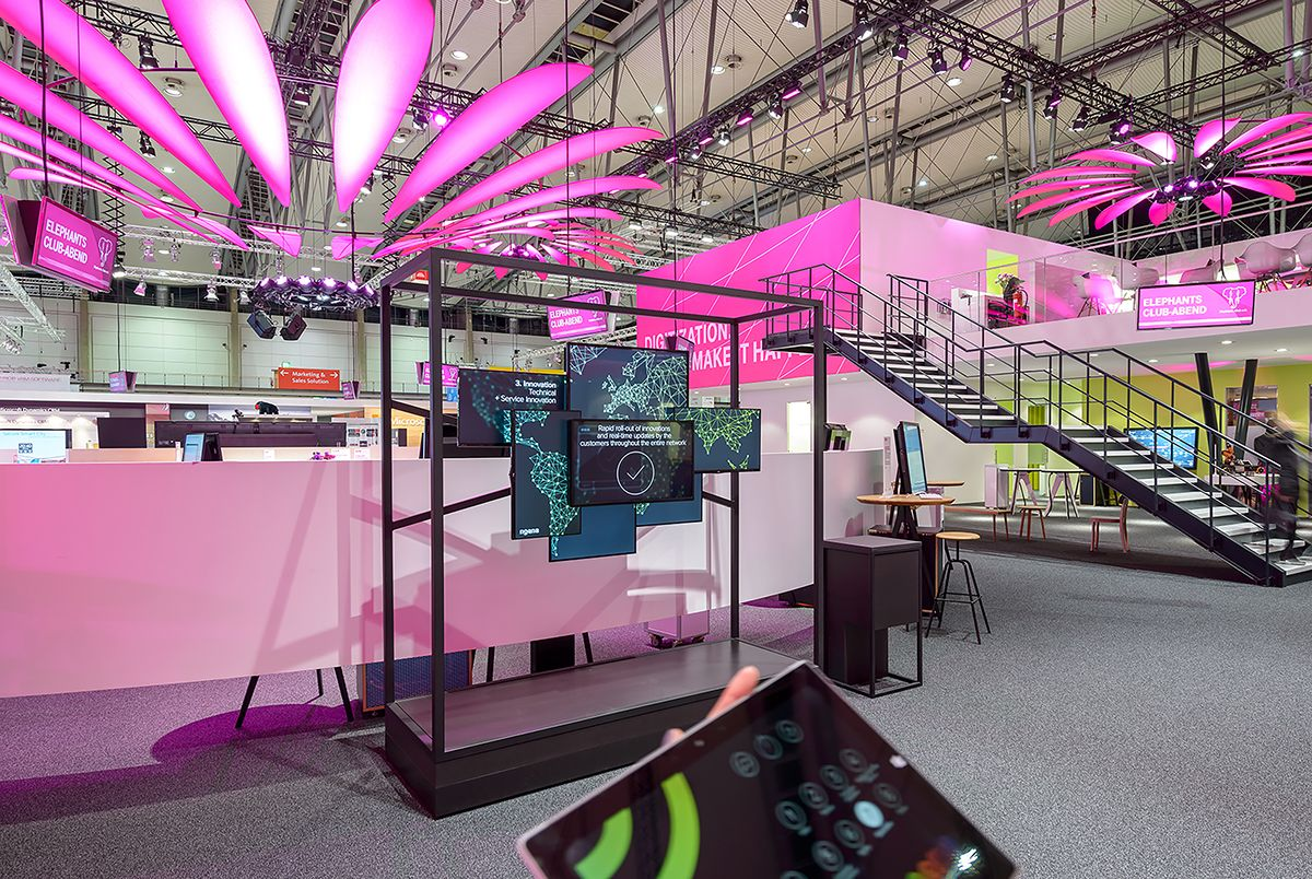 Interactive Showcase Deutsche Telekom CeBIT 2016 on