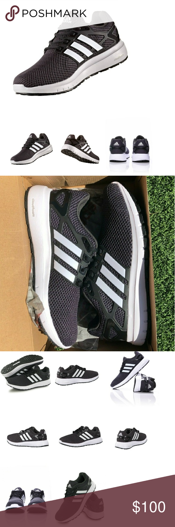 2 Left Adidas Energycloud M By1924 Adidas Energy Cloud M Cloudfoam Black White Men Running Shoes Trainers By1924 Adidas Fashion Trends Clothes Design Fashion