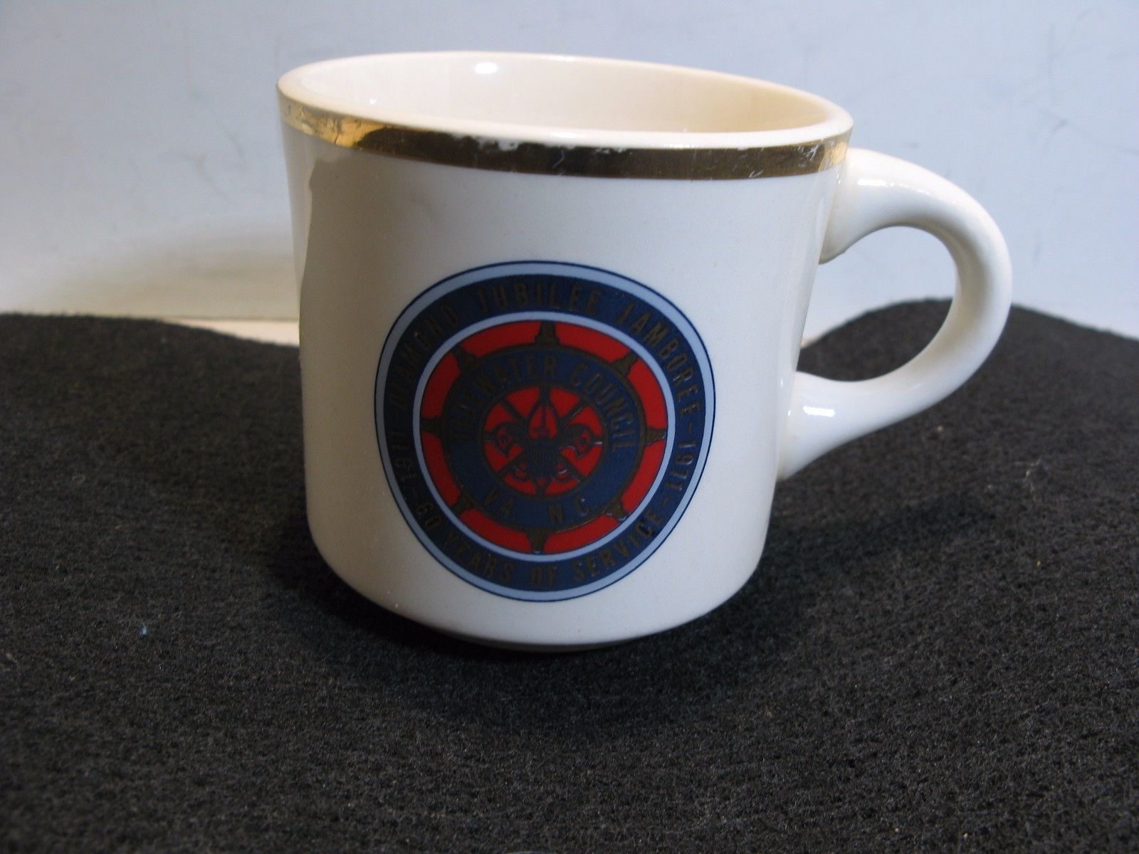 Bsa Boy Scouts Coffee Mug Cup Diamond Jubilee Jamboree 60 Years