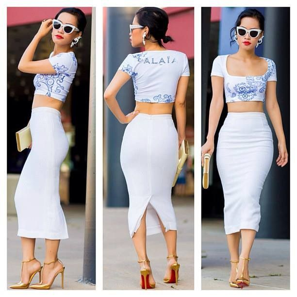 Pencil skirt and crop top my new favorite look | You're so stylish ...