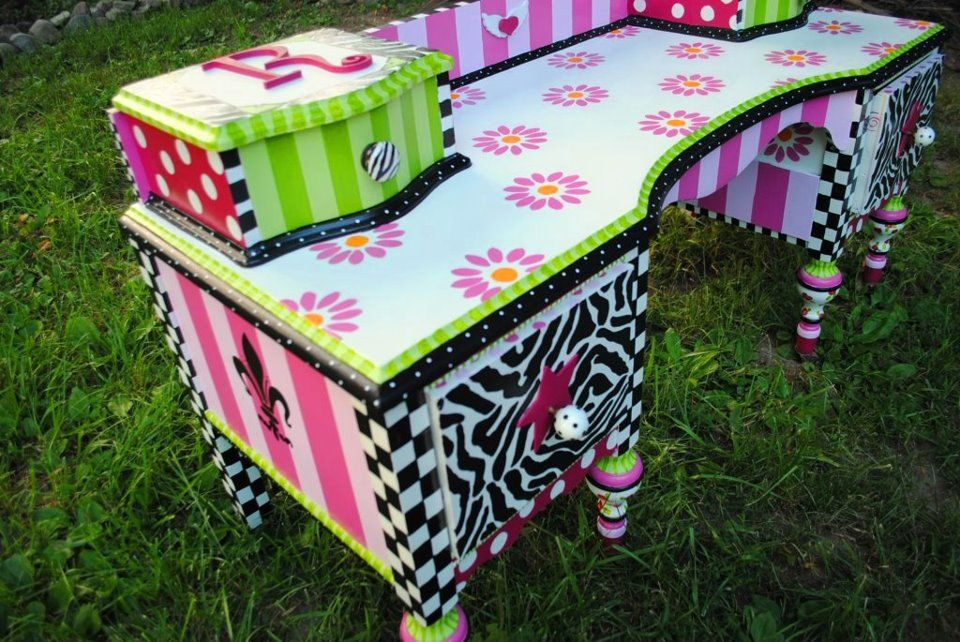 Art Furniture Painted Funky | Art-Funky Painted Furniture~