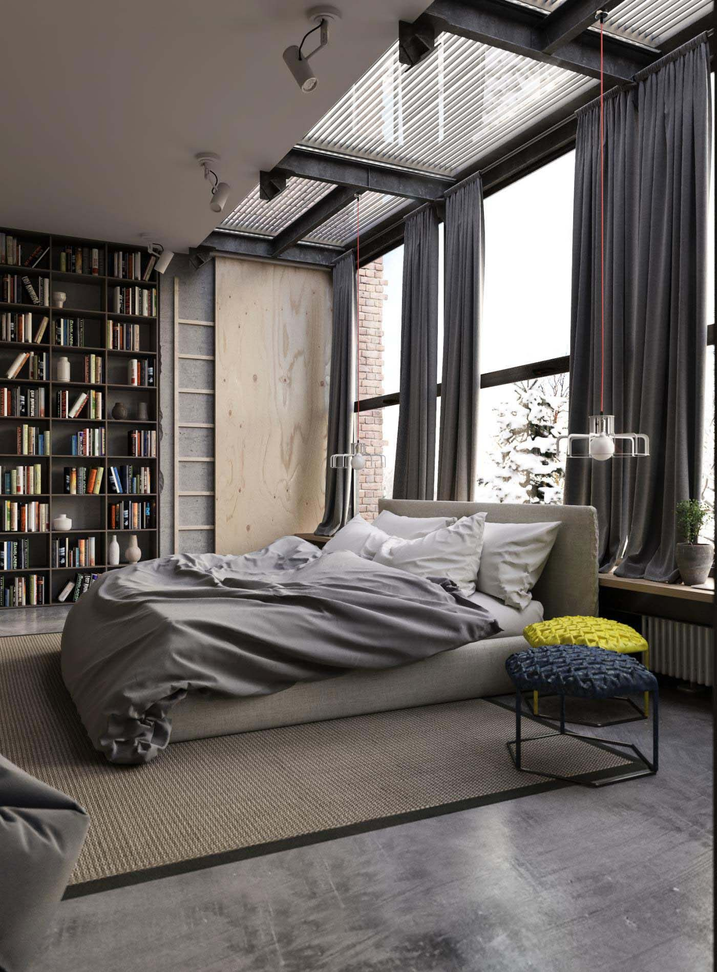High Quality Industrial Style Bedroom Design Ideas 34 1 Kindesign