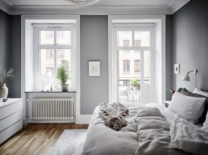 Dormitorio fresco y acogedor en grises Hygge, Small apartments and