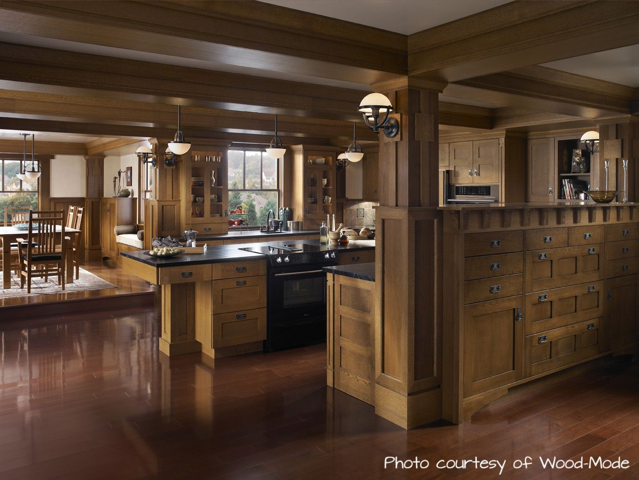 Dissecting The Design An Arts Crafts Kitchen The Cabinet Schedule Craftsman Kitchen Mission Style Kitchens Kitchen Cabinet Styles