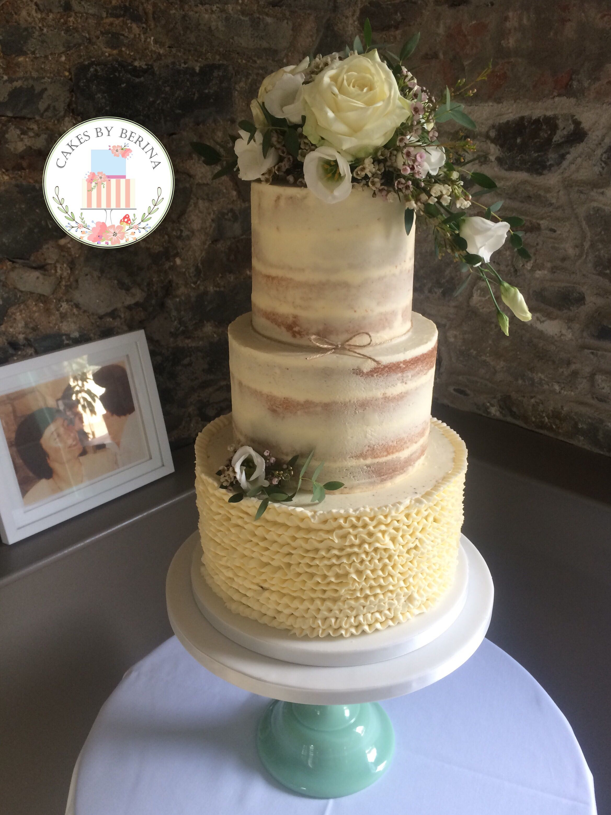 Vintage buttercream wedding cakes