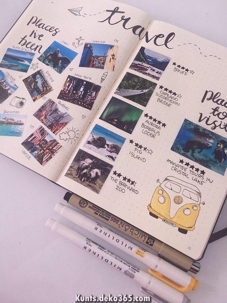 Großartig kreative Reisetagebuchideen, die Sie lieben werden