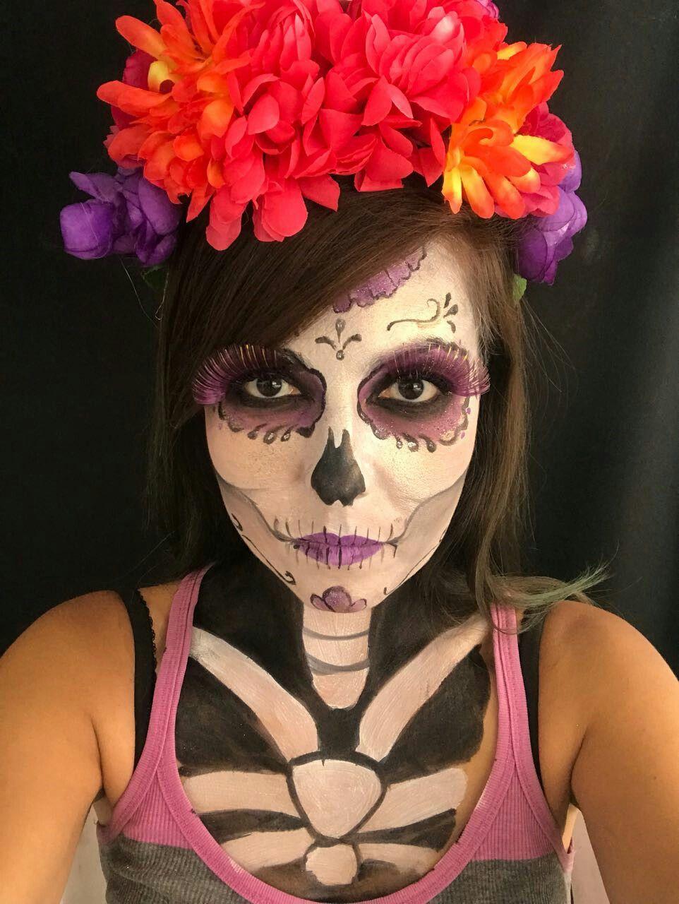 Maquillaje de catrina por andrea romero dÍa de muertos pinterest