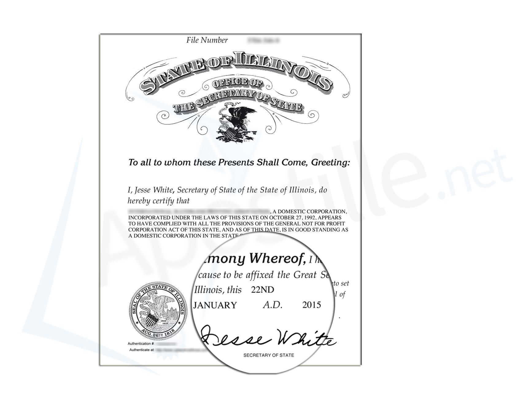 State of illinois certificate of good standing signed by jesse state of illinois certificate of good standing signed by jesse white secretary of state 1betcityfo Gallery