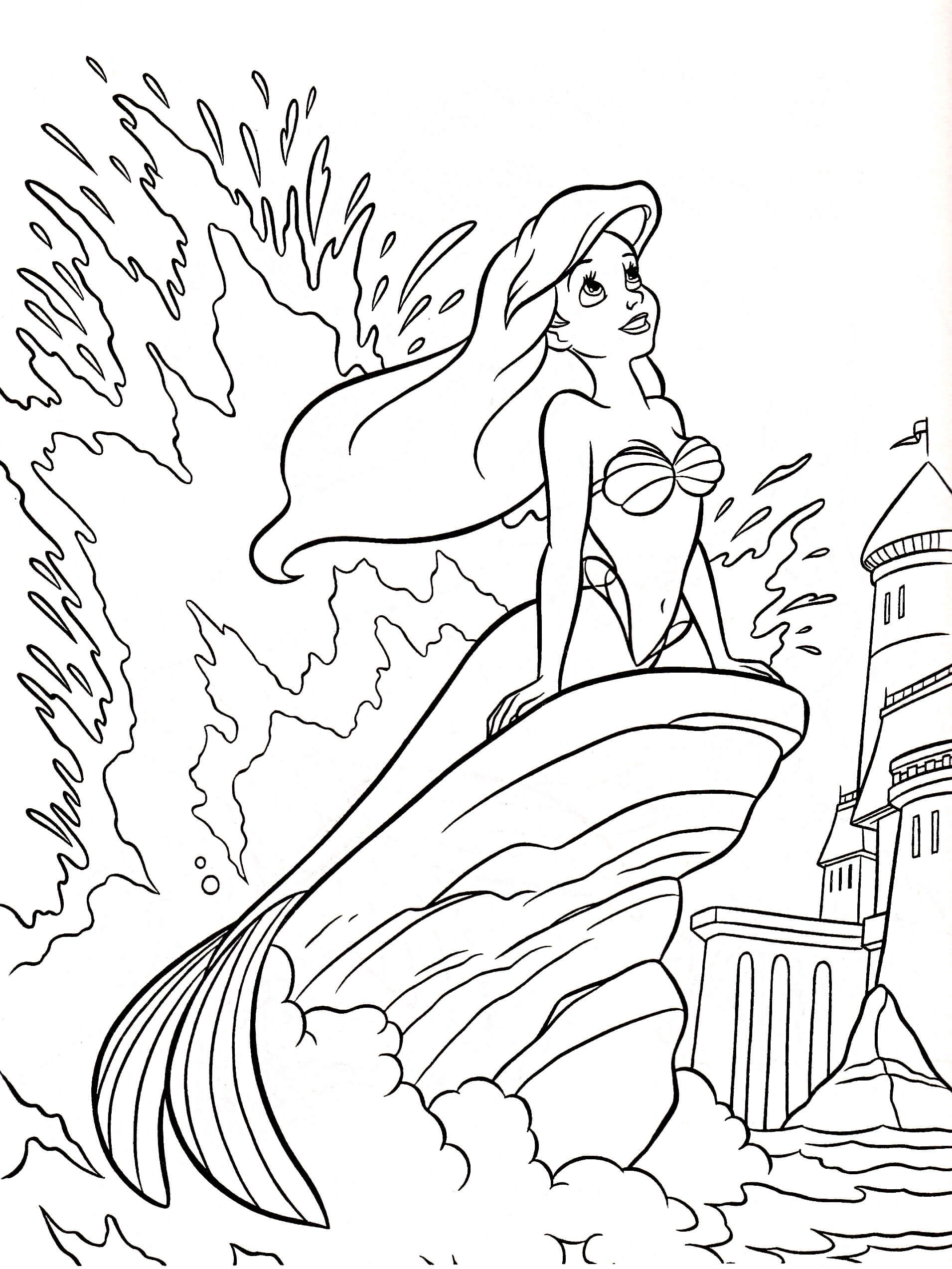 Disney Ariel Coloring Pages Colorables The Little Mermaid