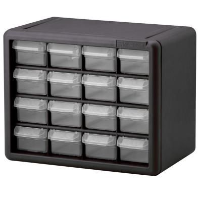 Akro Mils 16 Compartment Small Parts Organizer 10116 The Home Depot Small Parts Storage Plastic Storage Cabinets Small Parts Organizer
