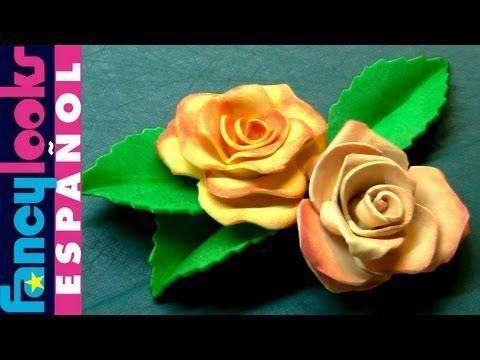Estampando en goma Eva-Experimento 2-ROSAS - YouTube
