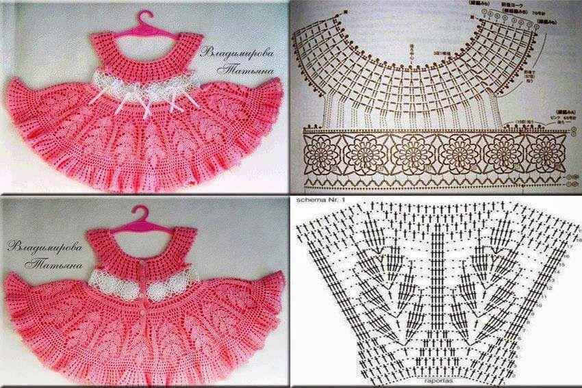 Artesanato Tv Aparecida ~ vestidos de croche artesanato modelos28 Tramas e gráficos Pinterest Vestidos de croch u00ea