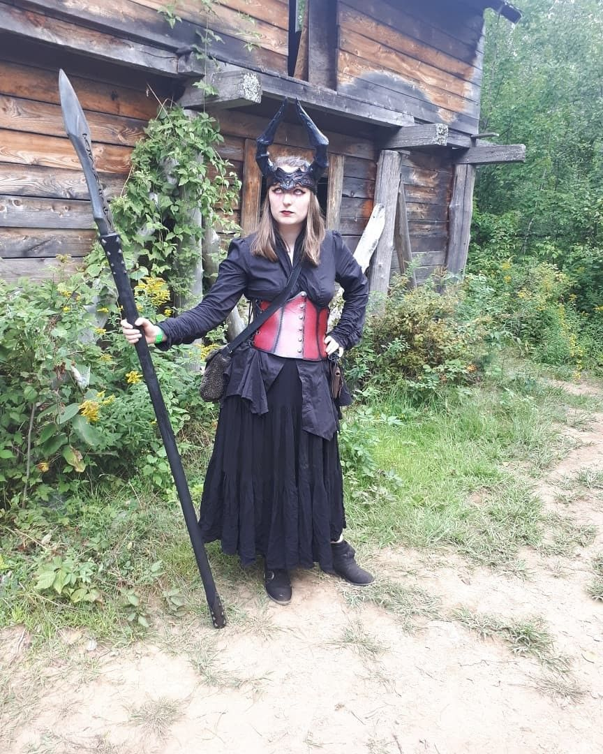 My demon outfit for larp Horn by Nemesis | Cosplay in 2019