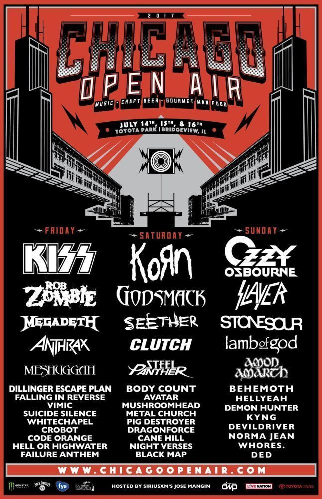 chicago open air 2017 poster concert lineup multiple sizes in 2018