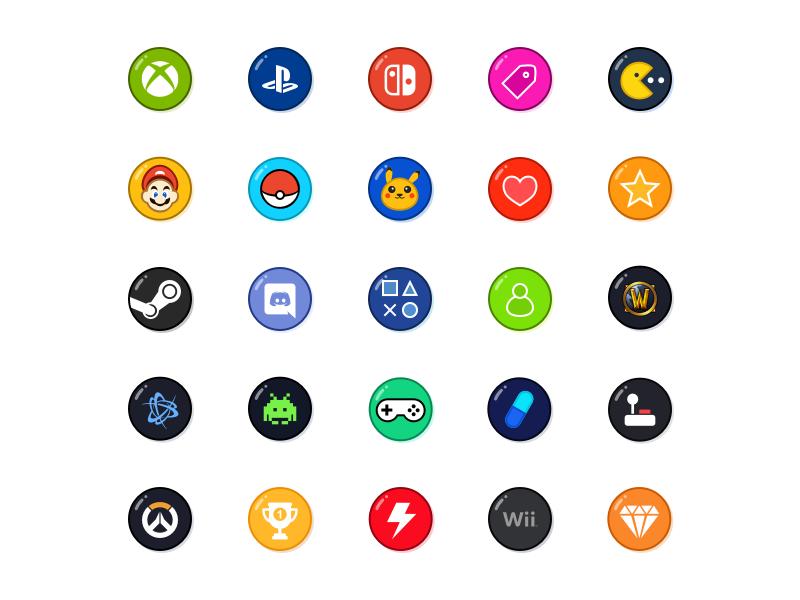 Free Game Icons Game icon design, Game icon, Logo tutorial