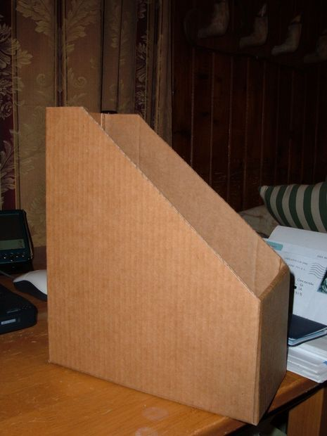 Cardboard Magazine File Holders DIY Cardboard Magazine Box or file holder great for all my extra 18