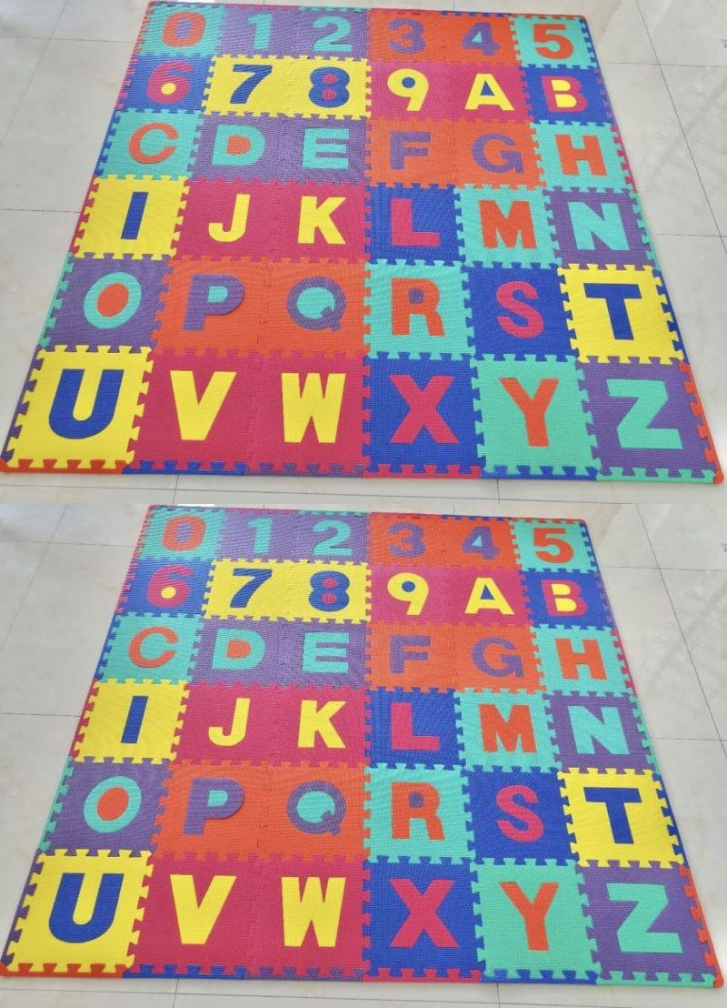 Blocks Tiles and Mats 145931: Alphabet Kids Baby Play Mat Foam Floor ...